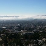 Fog moving in over the SF Bay from the back terrace