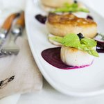 Roasted Hokkaido Scallops & Pan seared Duck Foie gras