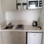 Kitchenette (room 221 in Aegean Village)