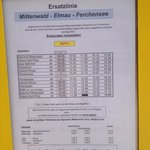 Bus schedule between Schloss Elmau and Ferchensee