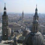 Vistas de Zaragoza desde El Pilar