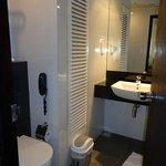 toilet, phone and vanity