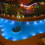 pool view night time