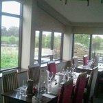 Restaurant top view as taken from Orangery room doors