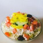 Our famous Greek salad