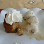 The stunning Rhum Baba dessert I ate
