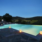 Swimming pool by nightfall