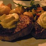 """a juicy , delicious """" Oryx Steak...."""