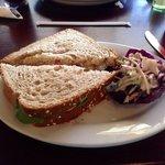 Cranberry Turkey on Wheat with Kale Slaw
