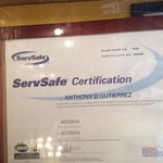 Another serve safe certificate