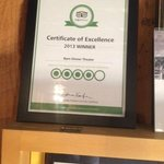 Certificate from Trip advisor