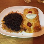Chicken enchilada. I ordered the hot one but didn't find it too hot. Thankfully!