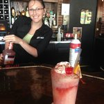 Cool bartender - and a great concoction too - tasted like cheesecake!