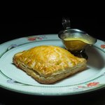 Scottish Salmon En Croute with Mustard Mash and Hollandaise Sauce