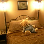 Bears Den Private bedroom # 1 with one comfortable, high end queen size bed.