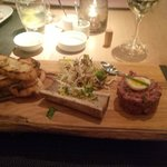 Bone marrow and steak tartar