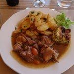 Duck leg stew.
