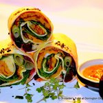 Spicy veggie wraps
