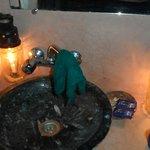 Toilette aux bougies