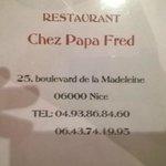 Chez papa Fred