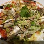 Entrée : Grande assiette de tomate et mozzarella