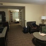 Looking in from the door of Room 214. Couch and worktable not visible, but they're off to the ri
