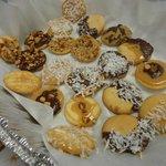 Alfajores cookies with dulce de leche