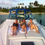 Starfish point on our Searay