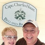 On the porch at Cape Charles House