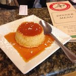 Where else can you get flan in an Italian restaurant?