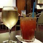 White wine and a Caesar, Peaks Lodge  |  Rte 1, Revelstoke, British Columbia, Canada