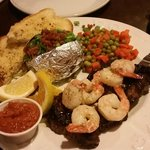 Special of the day, surf and turf, very good! Peaks Lodge  |  Rte 1, Revelstoke, British Columbi