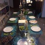 Lovely breakfast table
