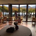 Entree und Lounge am See