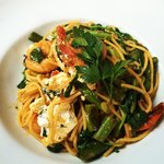 Chilli and lime prawn spaghetti