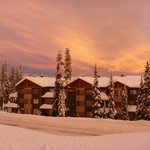 Grizzly Lodge Big White BC Canada at sunset