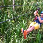 Me gliding down in Ecoglide Arenal Park