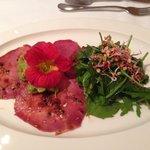 Marinated Beef Tongue with Avacado and Salad