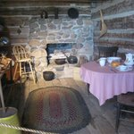 Inside the old Log Cabin