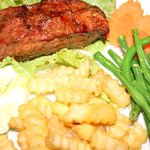 Grilled Locak Steak with French Fries