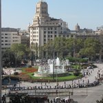 View of Plaça Catalunya from our room