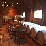 Beautiful decor, love the barrels.