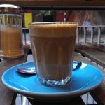 now thats a Fab Flat white..on a nice Blue saucer