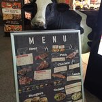 Mr. Cow outside the restaurant to greet u at the door ��