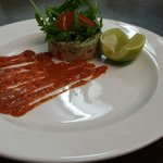 Chicken tikka starter plating