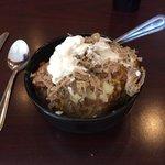 Texas Potato...potato, beans, pulled pork & sour cream. $10. Yummy!!