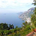 The view from Villa La Quercia