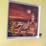 pintura de Vallarta dentro del restaurant.