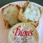 Cheese toast with green chile
