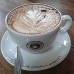 Great coffee art at Charlies / Chunky Monkey this week at Mugdock Courtyard